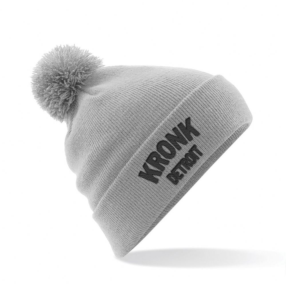Kronk Detroit Bobble Hat - Grey